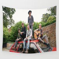1d Wall Tapestries featuring 1D FOUR photoshoot by kikabarros