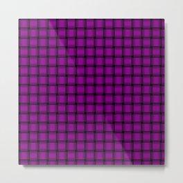 Small Purple Violet Weave Metal Print