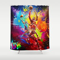 nba Shower Curtains featuring NBA by Don Kuing