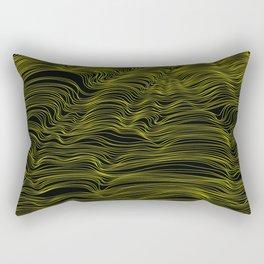 Gold Lined Rectangular Pillow