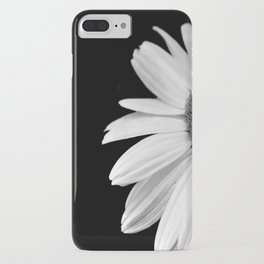 Half Daisy in Black and White iPhone Case