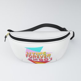 90'S RETRO OLDSCHOOL PARTY OUTFIT GIFTS SHIRTS Fanny Pack