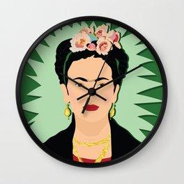 Frida Khalo (Green) | Bad Ass Women Series Wall Clock