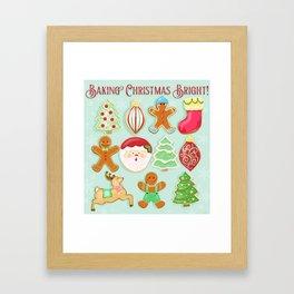 Baking Christmas Bright Framed Art Print