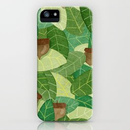 Acorns and Leaves iPhone Case