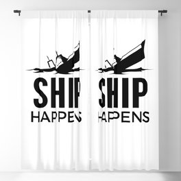 Ship Happens Blackout Curtain
