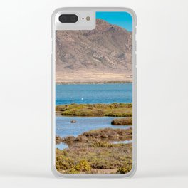 Landscape with mountain and water in Andalusia, Almeria, Spain Clear iPhone Case