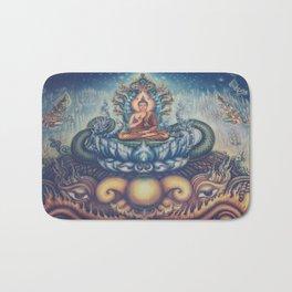 Buddah blue temple Bath Mat