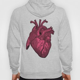 hot pink heart Hoody