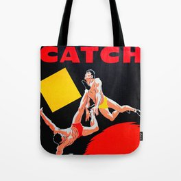 CATCH - Vintage French Wrestling Poster Tote Bag