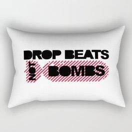 Drop Beats Not Bombs EDM Quote Rectangular Pillow