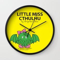 Little Miss Cthulhu Wall Clock