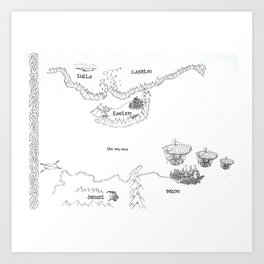 STORM SIREN Original Map (bk 1) Art Print