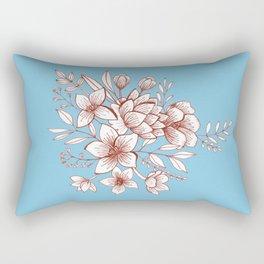 Line Flower Bouquet Rectangular Pillow