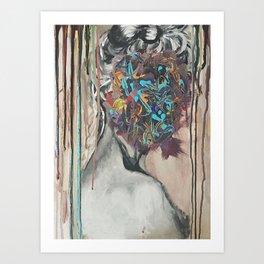 Thoughtful Woman Art Print
