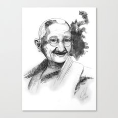 Will & Strength (Ghandi) by carographic Canvas Print
