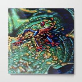 Tree Frog Dream | Painting Metal Print
