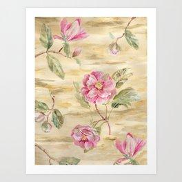 magnolia gold Art Print