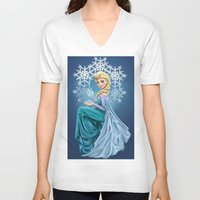 elsa V-neck T-shirts featuring Elsa by toibi