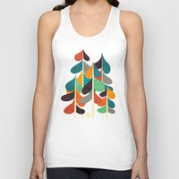 cabin Tank Tops featuring Cabin in the woods by Picomodi