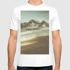 Into the mountains MEDIUM White Mens Fitted Tee