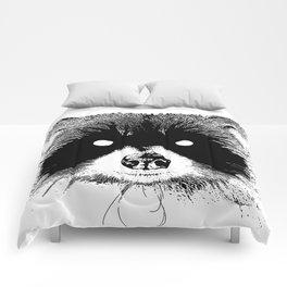 Black Metal Raccoon Comforters