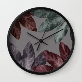 Vintage Leaf Design 3 Wall Clock