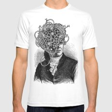 Spores MEDIUM White Mens Fitted Tee
