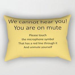 Videoconferencing Rectangular Pillow