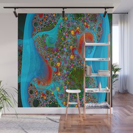 Abstract Topography Wall Mural