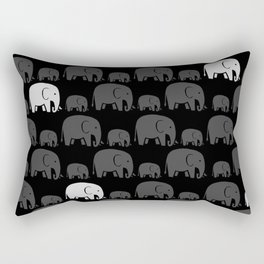 Elephant Black Rectangular Pillow