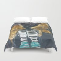 grace Duvet Covers featuring grace by Ashley James