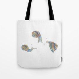 Snail Triplets Tote Bag