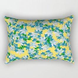 Summer Flowers Yellow Rectangular Pillow