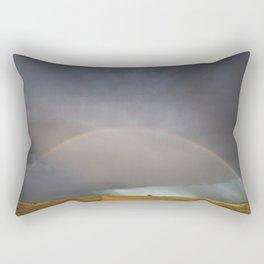 Rainbow after the Storm - Badlands National Park Rectangular Pillow