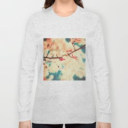 Autumn (Leafs in a textured and abstract sky) Long Sleeve T-shirt