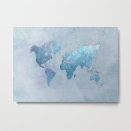 world map 2020 arctic #map #travel Metal Print