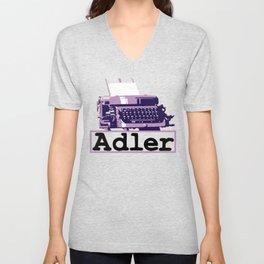 Adler Typewriter Unisex V-Neck