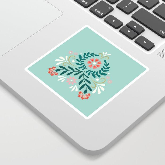 Floral Folk Pattern Sticker