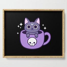 Black Magic Tea / Coffee Cat 02 | Nikury Serving Tray