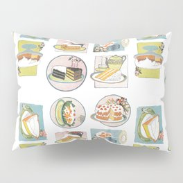Yum Yum Tea and Pastry Party (Repeating) Pillow Sham