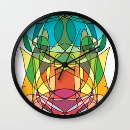 Abstract Curves #4 - Butter Fly Wall Clock