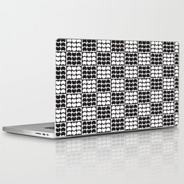 Hob Nob Black White Quarters Laptop & iPad Skin
