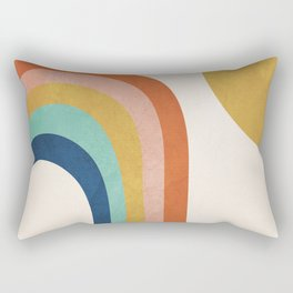 The Sun and a Rainbow Rectangular Pillow