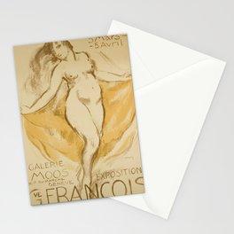 vintage Plakat gustave francois galerie moos Stationery Cards