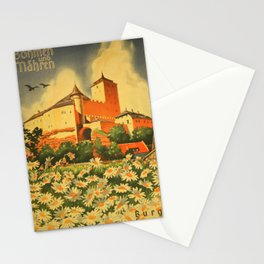 vintage placard Bohemia and Moravia, Kost Castle Stationery Cards