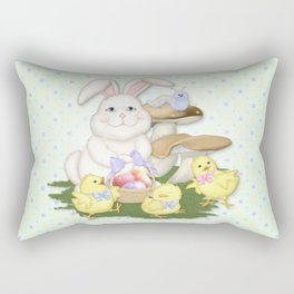White Rabbit and Easter Friends Rectangular Pillow