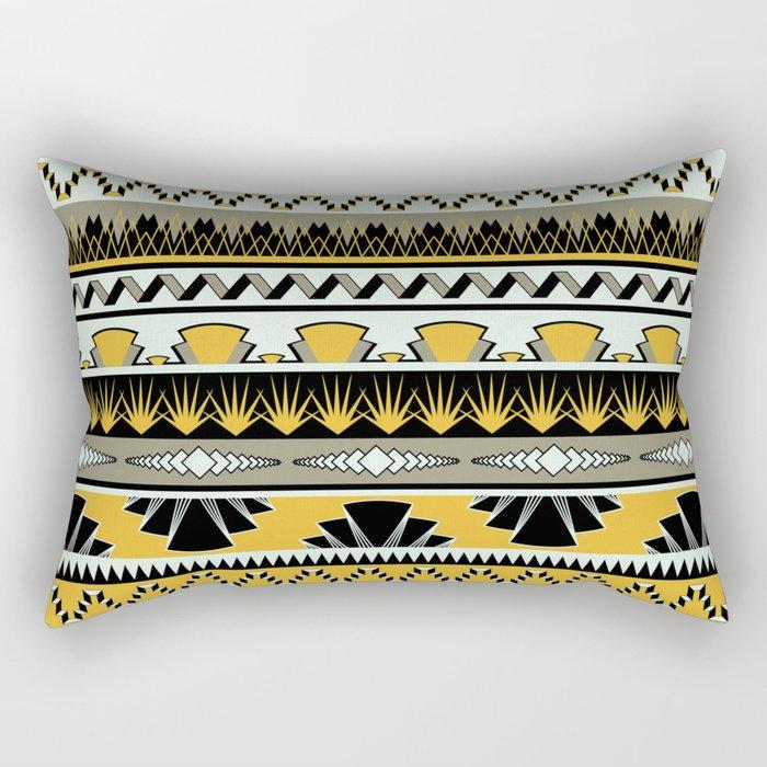 art deco stripes - honey Rectangular Pillow