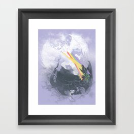 Clash of the sky Dragons Framed Art Print