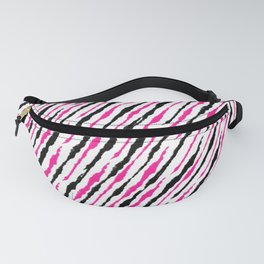 Pink and Black Pattern Fanny Pack